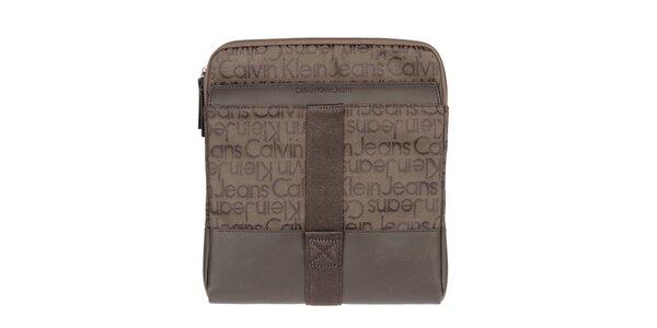 Pánska hnedá taška cez rameno Calvin Klein Jeans