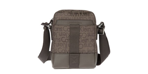 Pánska hnedá látková taška cez rameno Calvin Klein Jeans