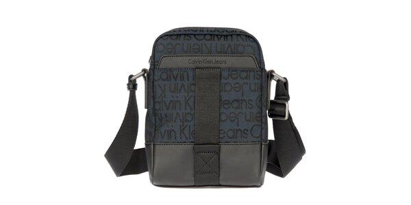 Pánska tmavo modrá látková taška cez rameno Calvin Klein Jeans