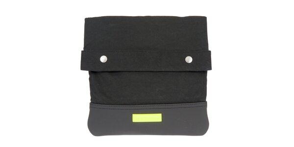 Pánska čierna taška cez rameno s neónovým detailom Calvin Klein Jeans