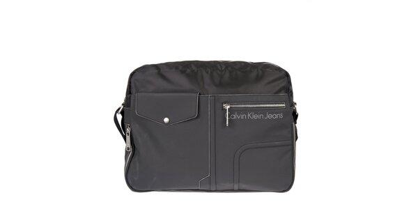 Pánska antracitová mestská taška Calvin Klein Jeans