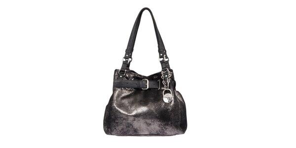 Dámska textilná kabelka v čiernej farbe Calvin Klein