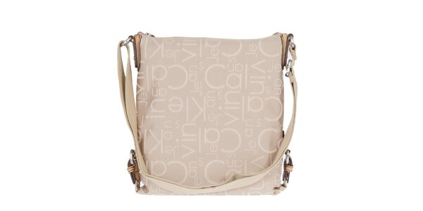 Dámska béžová taška cez rameno Calvin Klein Jeans
