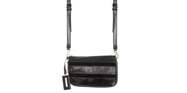 Dámska kožená kabelka v čiernej farbe Calvin Klein Jeans