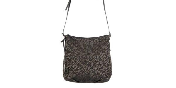Dámska kabelka v čiernej farbe s potlačou Calvin Klein Jeans