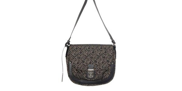 Dámska čierna kabelka s potlačou Calvin Klein Jeans