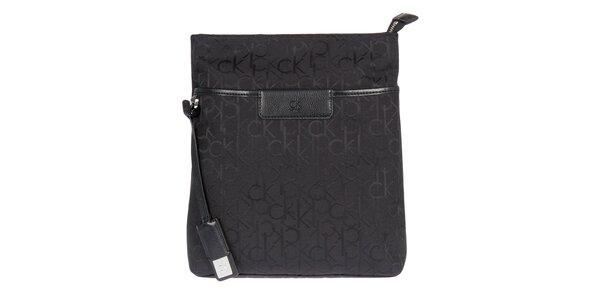 Dámska čierna kabelka cez rameno Calvin Klein