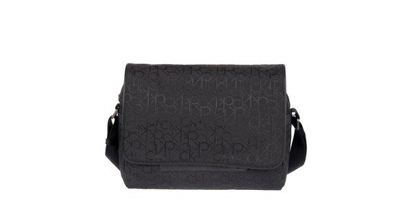 Pánska potlačená taška v čiernej farbe Calvin Klein