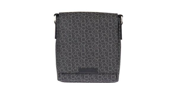 Pánska čierna taška s potlačou Calvin Klein