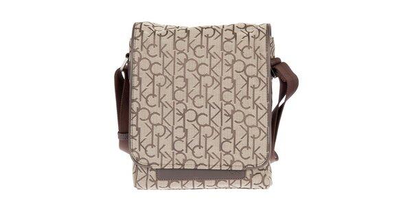 Pánska hnedá mestská taška cez rameno Calvin Klein
