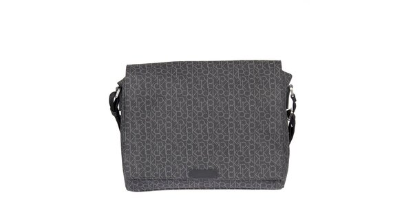 Pánska antracitová potlačená taška Calvin Klein