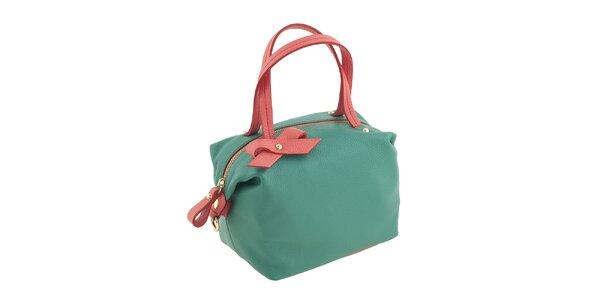 Dámska zeleno-korálová kabelka Valentina Italy