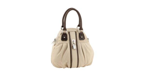 Dámska béžovo-hnedá kabelka so zámčekom Valentina Italy