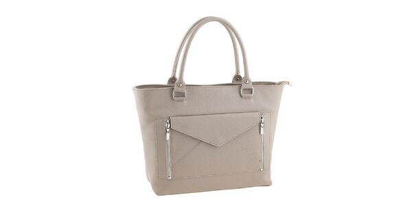 Dámska béžová kabelka s listovou kabelkou Valentina Italy