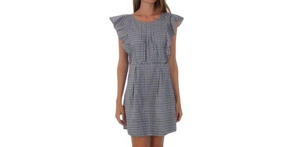 Dámske bodkované šaty s volánikmi Tommy Hilfiger