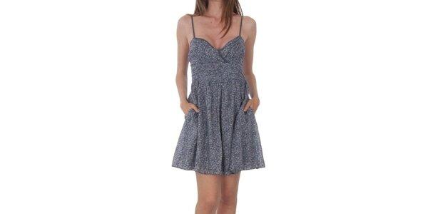 Dámske šedé vzorované šaty Tommy Hilfiger