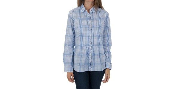 Dámska modrá kockovaná košeľa Tommy Hilfiger