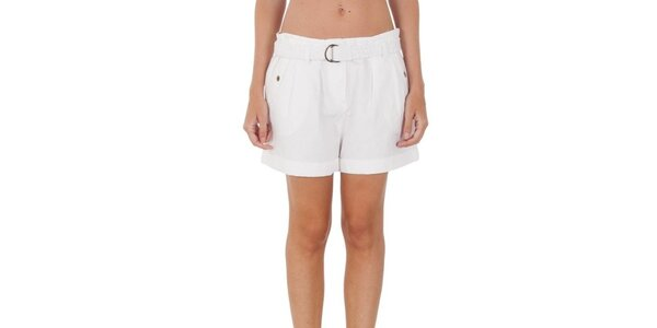 Dámske biele široké šortky Tommy Hilfiger