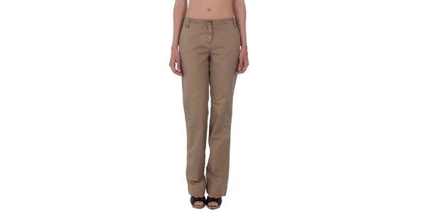Dámske hnedobéžové nohavice Tommy Hilfiger