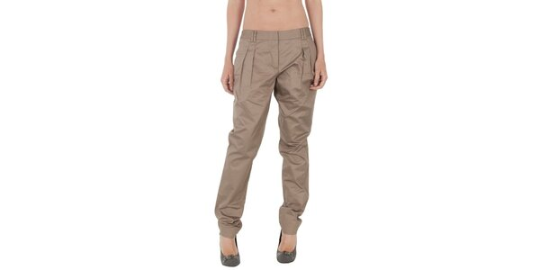 Dámske béžové nohavice Tommy Hilfiger