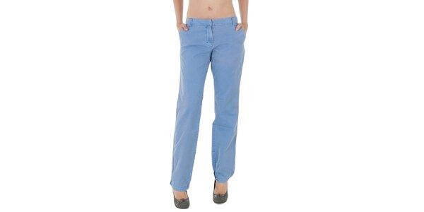 Dámske svetlo modré plátené nohavice Tommy Hilfiger