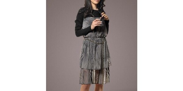 Dámske čierno-biele šaty Patricia Rado