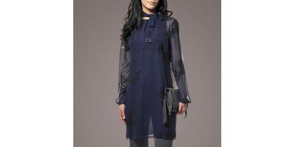 Dámska hodvábna tunika v modrej farbe Patricia Rado