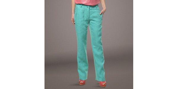 Dámske svetlo zelené ľanové nohavice Patricia Rado