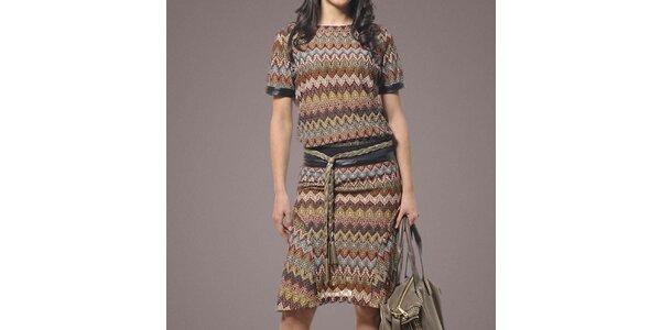Dámske vzorované šaty s krátkym rukávom Patricia Rado