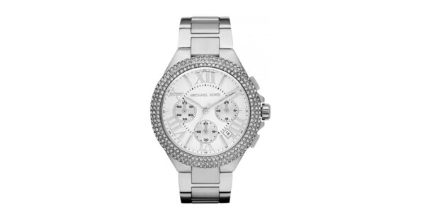 Dámske ocelové hodinky s okrúhlym ciferníkom a kryštálikmi Michael Kors