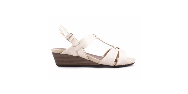 Dámske biele sandálky na kline Bel Canto