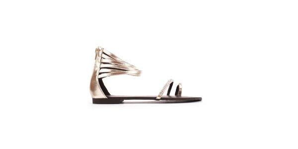 Dámske zlaté sandály Toscania