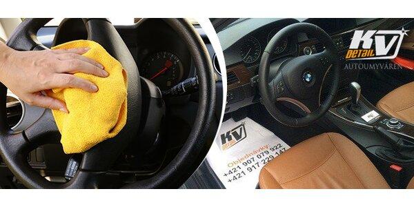 Kompletné čistenie auta