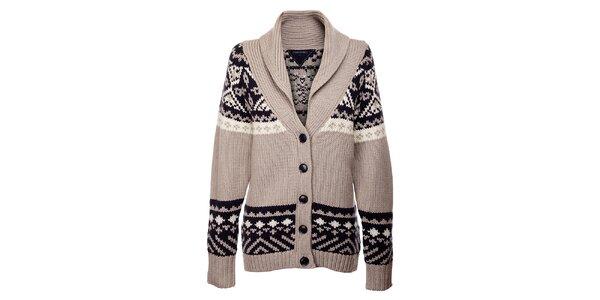 Šedý sveter so vzorom Tommy Hilfiger