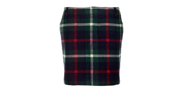 Zelená károvaná sukňa Tommy Hilfiger