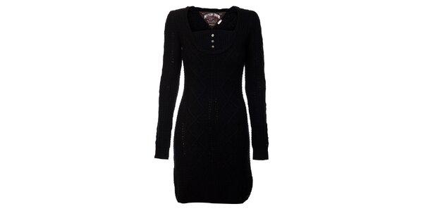 Čierne svetrové šaty Tommy Hilfiger