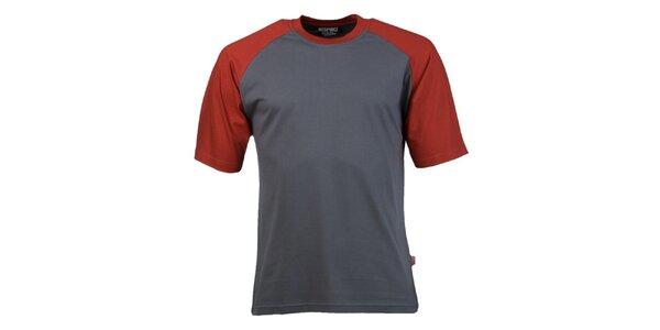 Pánske šedo-červené tričko Respiro