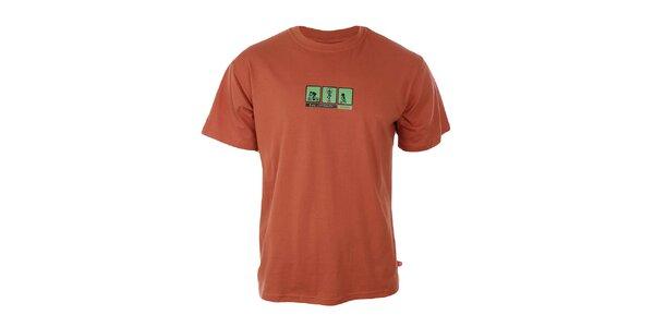 Pánske oranžové tričko Respiro