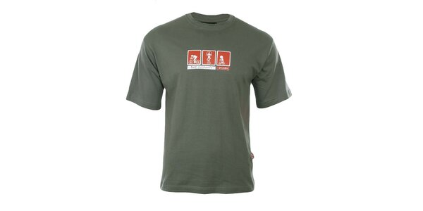 Pánske zelené tričko Respiro