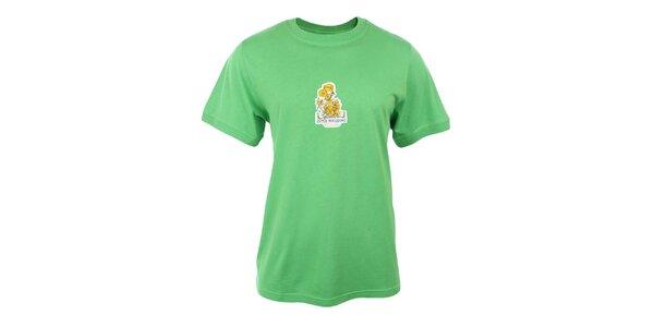 Pánske zelené tričko s potlačou Respiro