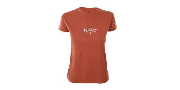 Dámske oranžové tričko s krátkym rukávom Respiro