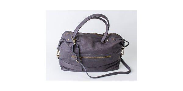 Dámska kožená šedá kabelka Pelleteria