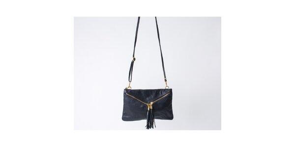 Dámska čierna kabelka so strapcami Pelleteria