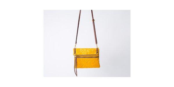 Dámska žltá kabelka so vzorom Pelleteria