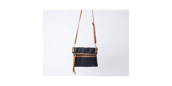 Dámska čierna kabelka so vzorom Pelleteria