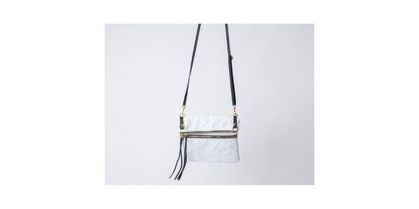 Dámska biela kabelka so vzorom Pelleteria