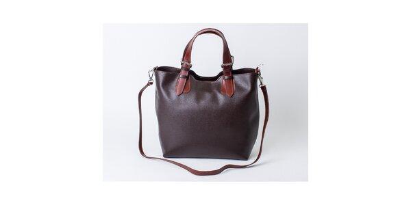 Dámska tmavo hnedá kabelka Pelleteria