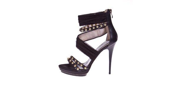Dámske čierne topánočky s cvočkami El Dantes