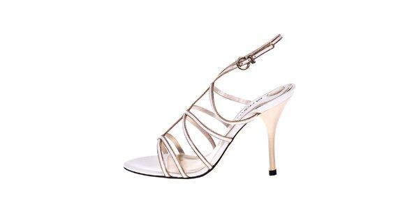 Dámske biele kožené sandálky El Dantes