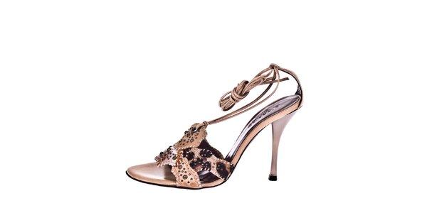 Dámske remienkové sandálky so zvieracím motívom El Dantes